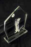 Glass Statuette Plaque