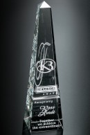 The Spire Crystal Award Trophy