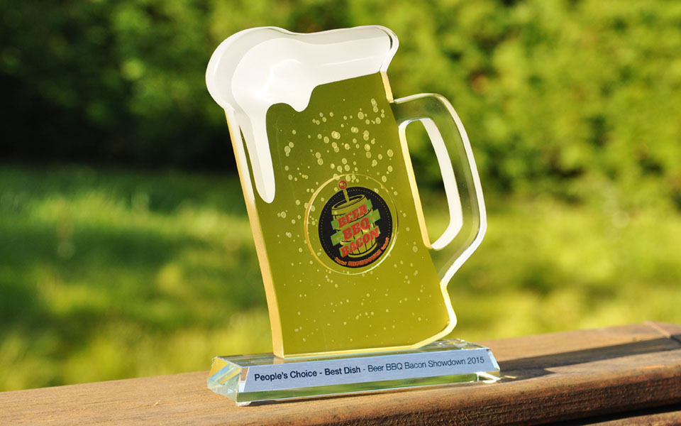 Custom Glass Beer Award